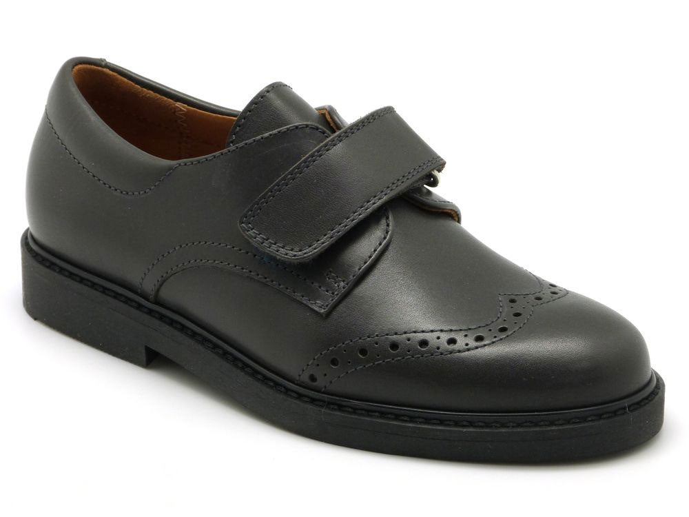 Beberlis Boys Dark Grey Wingtip Brogue Smart Shoes- SIZE 35 & 36 LEFT