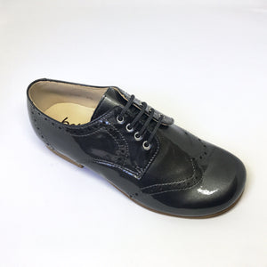 Beberlis Dark grey oxford-boys Shoes-BEBERLIS-Hopscotch Shoes Australia