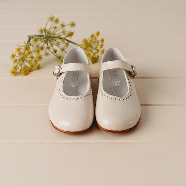 Beberlis Girls/Toddler Classic Pearl Mary Jane Dress Shoes-Girls Shoes-BEBERLIS-Hopscotch Shoes Australia