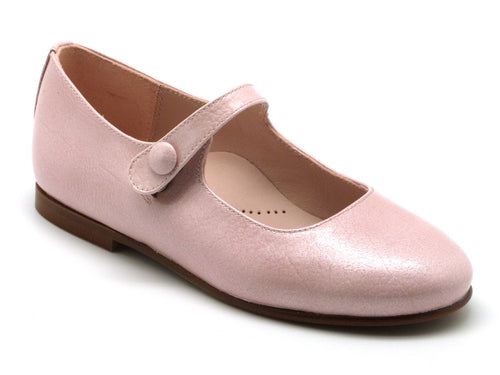 Beberlis pink Button Mary Jane-Girls Shoes-BEBERLIS-Hopscotch Shoes Australia
