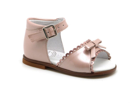 Beberlis baby pink bow sandals-Baby Shoes-BEBERLIS-Hopscotch Shoes Australia