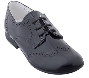 Beberlis classic Black oxford-boys Shoes-BEBERLIS-Hopscotch Shoes Australia