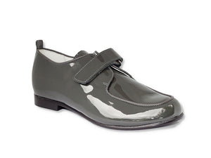 Beberlis dark grey Brogue-Boys Shoes-BEBERLIS-Hopscotch Shoes Australia