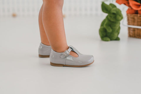Beberlis light grey baby t-bar -Baby Shoes-BEBERLIS-Hopscotch Shoes Australia