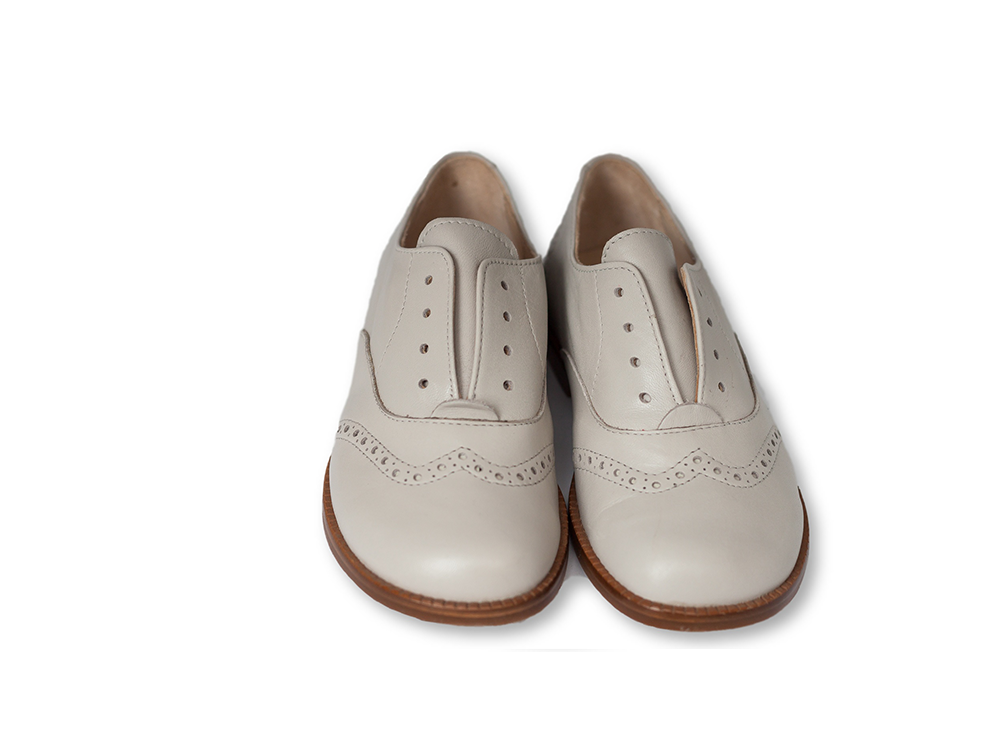 Beberlis light grey slip on oxford-boys Shoes-BEBERLIS-Hopscotch Shoes Australia
