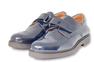 Beberlis Boys Navy Wingtip Brogue Dress Shoes-Boys Shoes-BEBERLIS-Hopscotch Shoes Australia