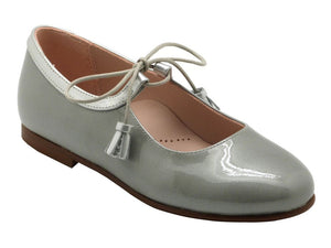 Beberlis Silver Mary Jane-Girls Shoes-BEBERLIS-Hopscotch Shoes Australia
