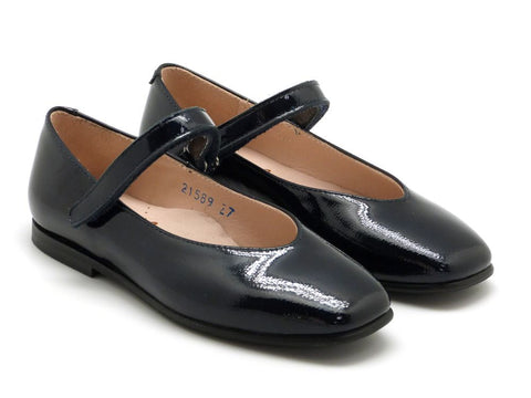 Beberlis black patent leather Mary Jane -Girls Shoes-Hopscotch Shoes Australia