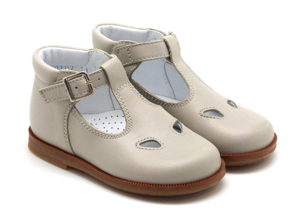 Beberlis boys girls ligth grey t-bar bootie with buckle Dress shoes casual shoes -baby Shoes-BEBERLIS-Hopscotch Shoes Australia
