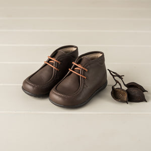 Beberlis Toddler Chocolate Booties Casual Shoes-Size 21 LEFT