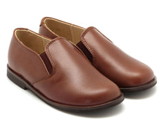 Beberlis chocolate brwon leather loafers- Boys Shoes- BEBERLIS-Hopscotch Shoes Australia