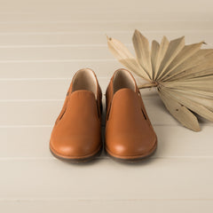 Beberlis tan leather loafers-Girls Shoes-Boys Shoes- BEBERLIS-Hopscotch Shoes Australia