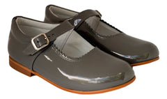 Hopscotch Girls Classic Charcoal Mary Jane with a Bow Dress Shoes- girls shoes -Hopscotch Shoes Australia