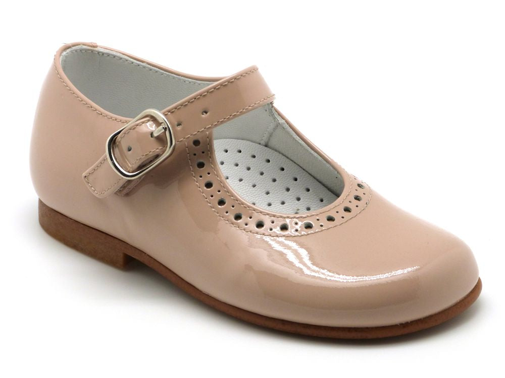 Beberlis Girls/Toddler Classic Nude Mary Jane Dress Shoes-Girls Shoes-BEBERLIS-Hopscotch Shoes Australia