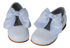 Classic white Mary Jane with a Bow - girls -Hopscotch Shoes Australia
