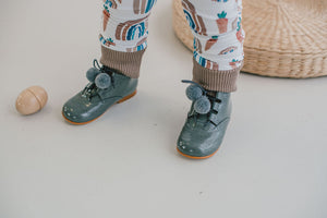 Hopscotch Toddler Charcoal Pompom Booties