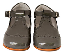 Dark Grey charcoal baby t-bar bootie 1-Baby Shoes-Hopscotch Shoes Australia