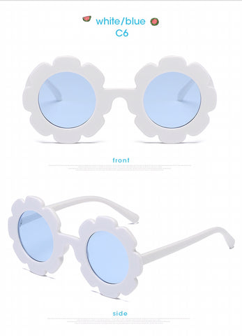 Hopscotch shoes australia- Accessories-white and blue girls sunglasses