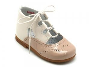 Beberlis Sand and Ivory Bootie-Baby Shoes-BEBERLIS-Hopscotch Shoes Australia