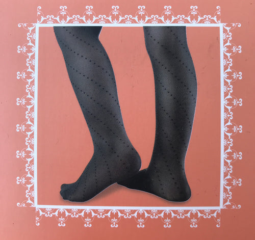 Serlei Ivory/Grey Asymmetrical Dots Tights-Accessories-Serlei-Hopscotch Shoes Australia