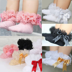 Lace Ruffle Frilly Trim Ankle Socks