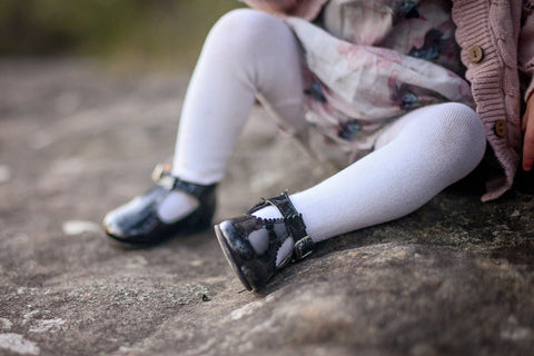 unisex black TBAR baby bootie-Baby Shoes-Hopscotch Shoes Australia