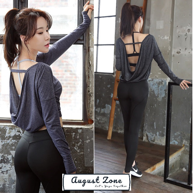 3-Pieces Smooth Line Fitness Suit