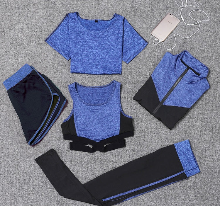 5 Pieces Set - Stylish Modern Fitness Wear