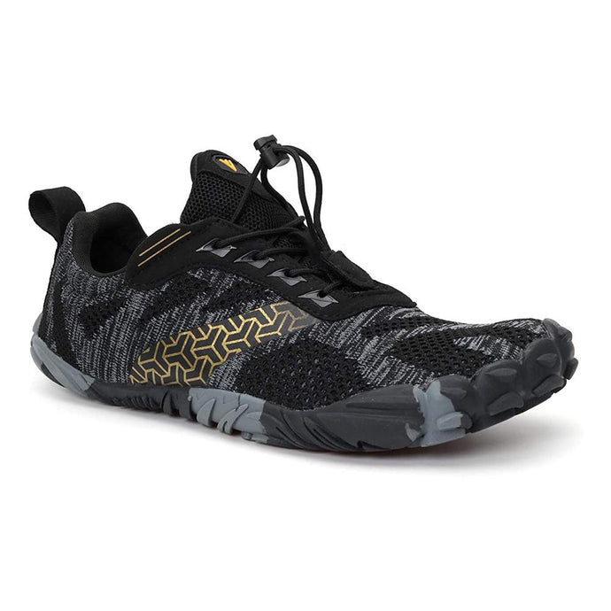 DevX 'Cross 22' Men's Barefoot Minimalist Trail Running Shoes - Black Gold - Ultra Trail DevX