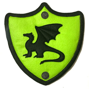 Darcy the Dragon Felted Character Shield