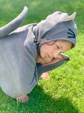 Grey Cat Hooded Cape