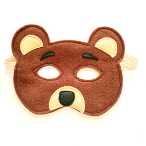 Bresley Brown Bear Felt Facemask