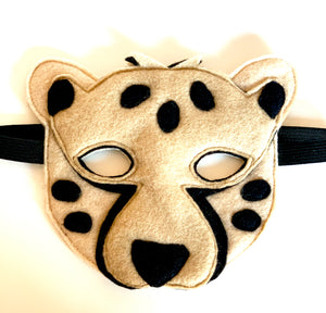 Cheetah Felt Facemask