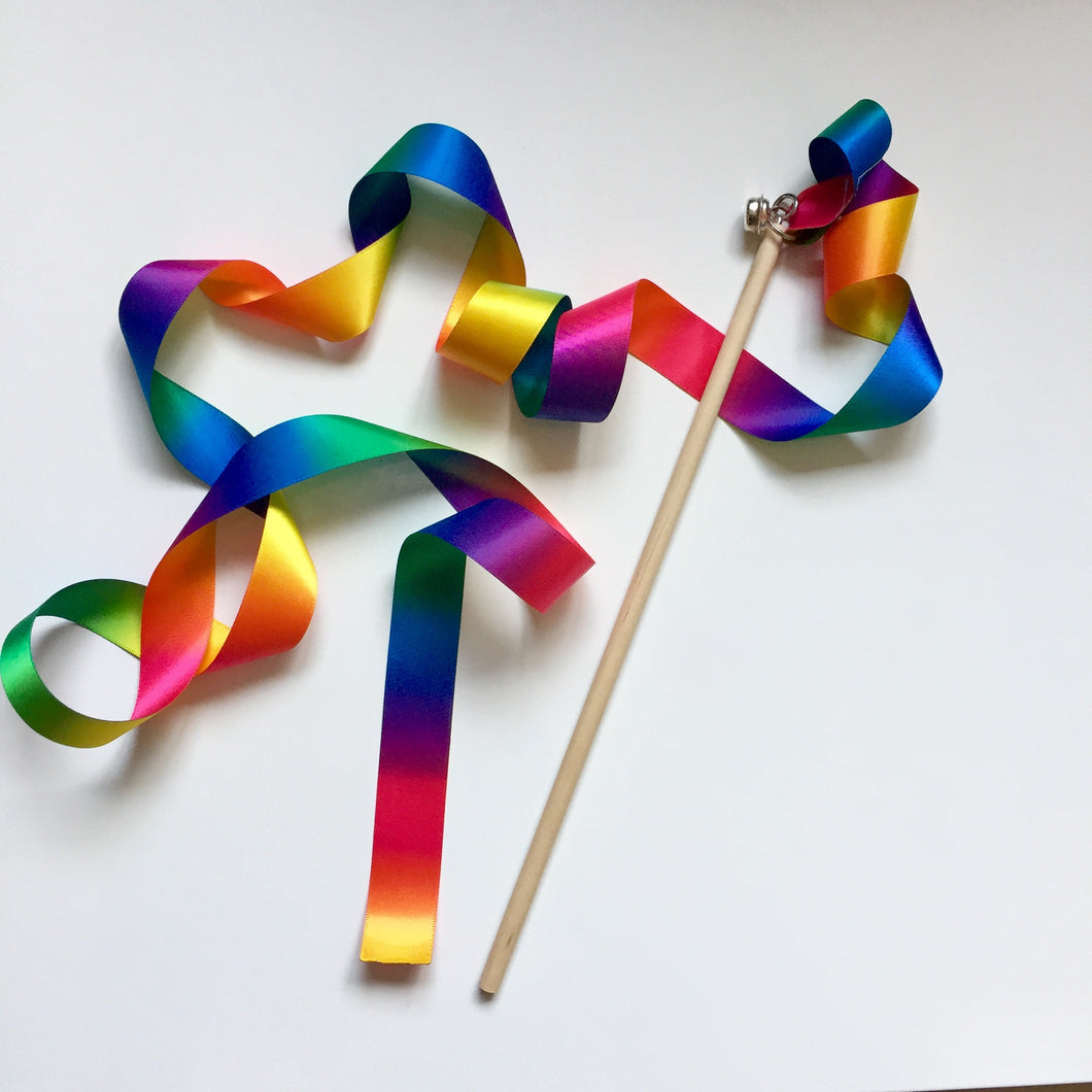 Rainbow Dancing Ribbon Wand
