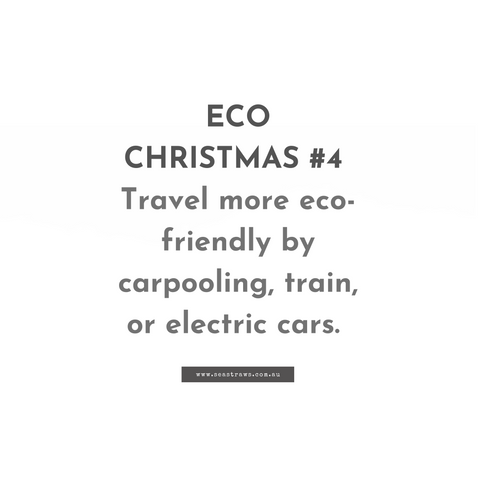 How to travel more eco-friendly and sustainable during Christmas.