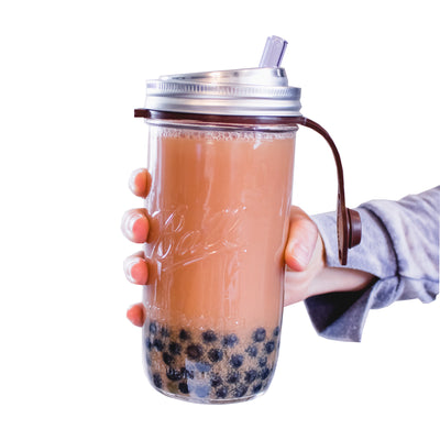 Reusable bubble tea cup and straws from Seastraws.