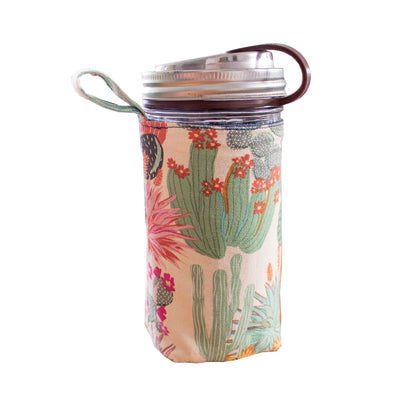 Mason jar sleeve accessory cactus pattern.