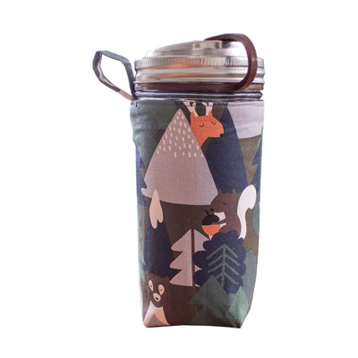 Mason jar sleeve accessory forest animals