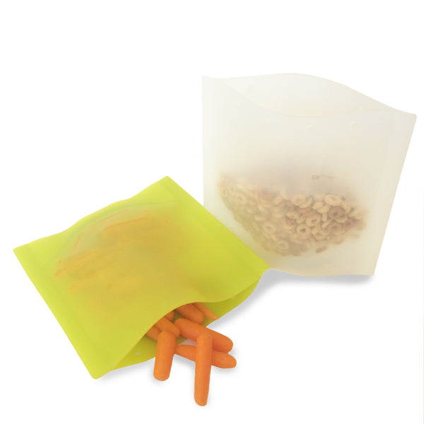 Silikids Reusable Silicone Snack Bags  2pk