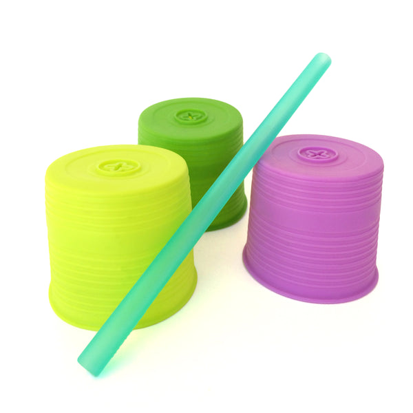 Silikids Universal Silicone Straw Tops 3pk