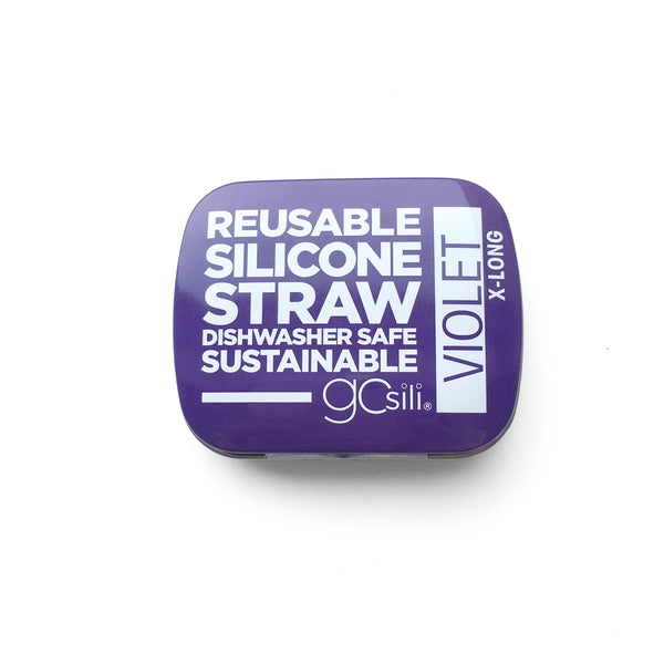 Gosili Portable and Reusable Extra Long Silicone Straw with Travel Case