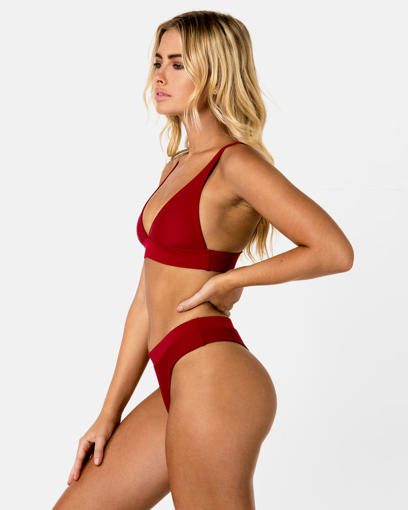 Cyprus Red Pomegranate G Bottom Cheeky Blonde Australian Sustainable Swimwear Recycled Plastic Beachwear