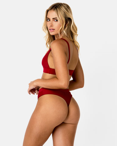 <b>Cyprus</b><br>Red Pomegranate Cheeky Bottom<br>Sustainable Australian Swimwear