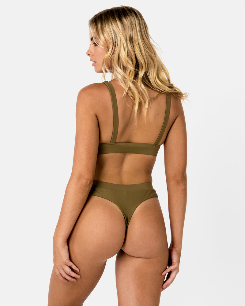 Cyprus Green Apple G Bottom Cheeky Blonde Australian Sustainable Swimwear Recycled Plastic Beachwear