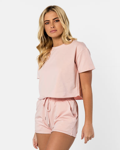 <b>California</b><br>Pink Sugar Shorts & Tee Set