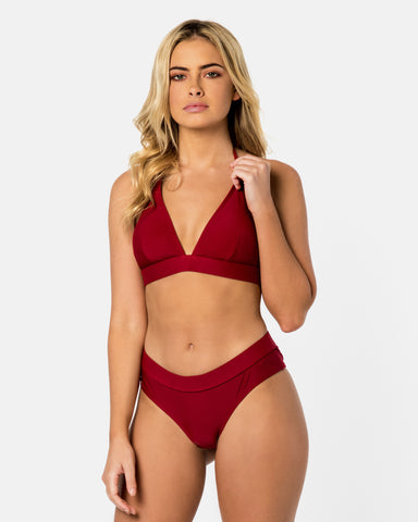 <b>Crete</b><br>Red Pomegranate Bottom<br>Sustainable Australian Swimwear