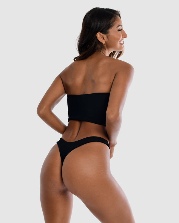 Ibiza Black Blackberry Cheeky G Bottom Blonde Australian Sustainable Swimwear Recycled Plastic Beachwear