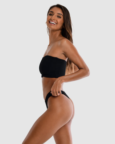 <b>Florida</b><br>Black Boob Tube<br>Blackberry Scented<br>Sustainable Australian Swimwear