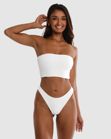 <b>Florida</b><br>White Boob Tube<br>Pina Colada Scented<br>Sustainable Australian Swimwear