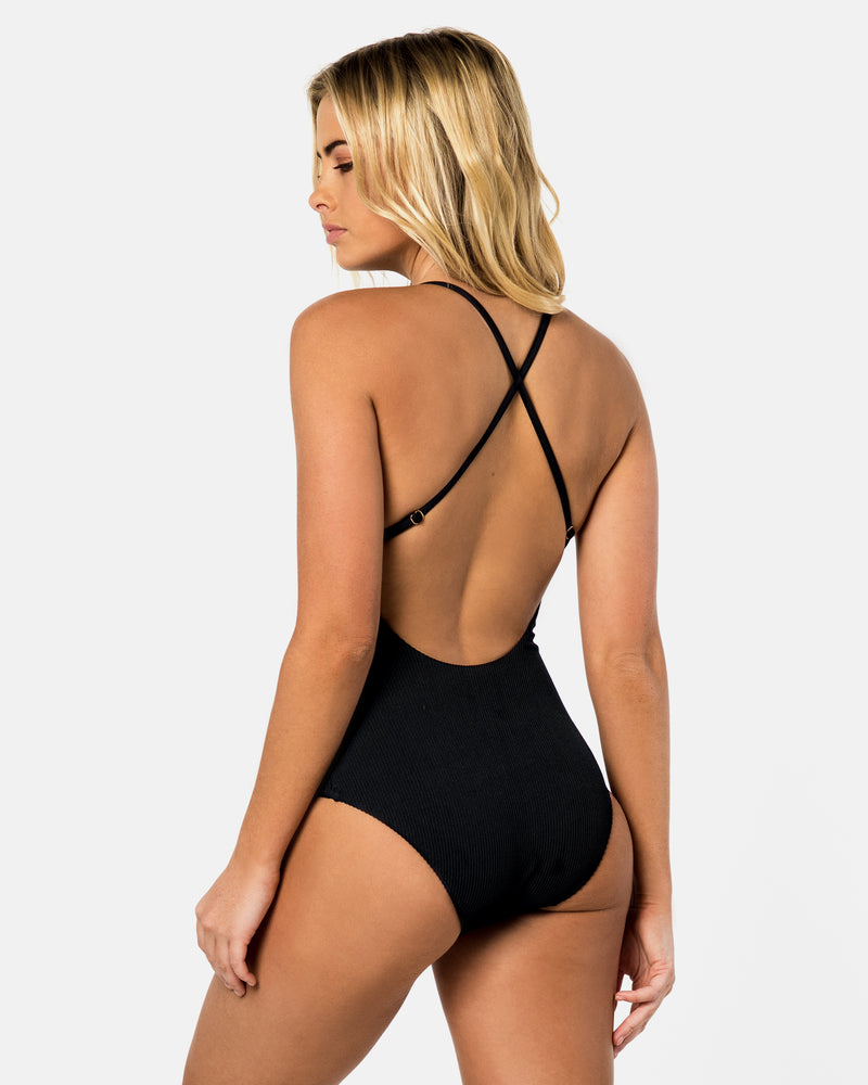 Toucan Blackberry Black One-piece Plus-Size Blonde Australian Sustainable Swimwear Recycled Plastic Beachwear